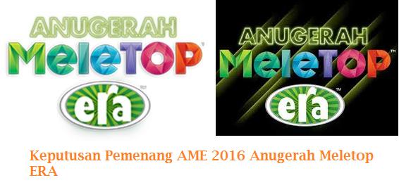 AME 2016 Anugerah Meletop ERA