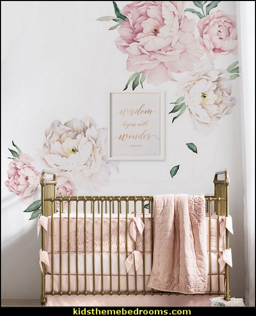 Peony Flowers Wall Sticker - Vintage Pink