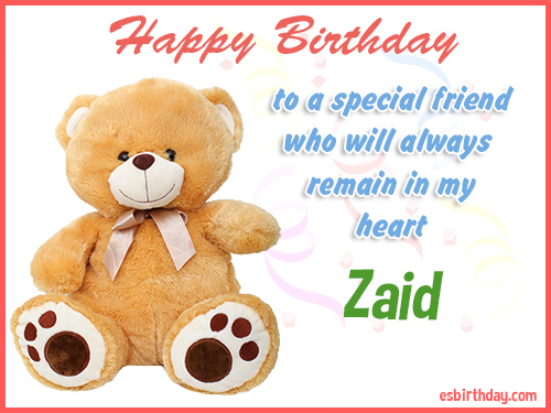 Zaid Happy birthday friend