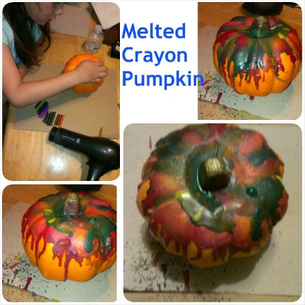 melted crayon pumpkin