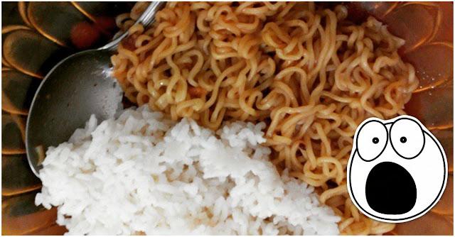 Tinggalkan Sebelum Menyesal Makan Nasi Dengan Mie, Bahaya Penyakit Ini Mengintai Anda....