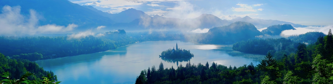 View of Lake Bled from Ojstrica