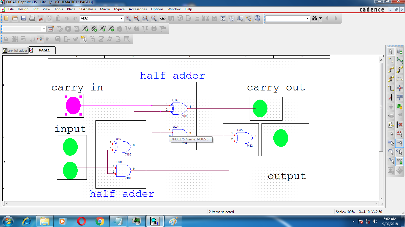 Ank Labs Gate Full Adder Logic Diagram Additionally 1 Bit Circuit After Making Finishing The Youre Are Ready To Simulate