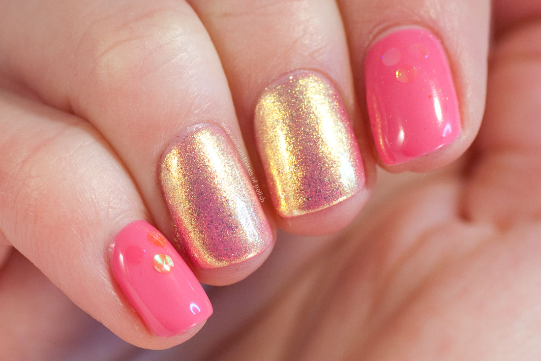 Pink Mermaid Gel Nail Art
