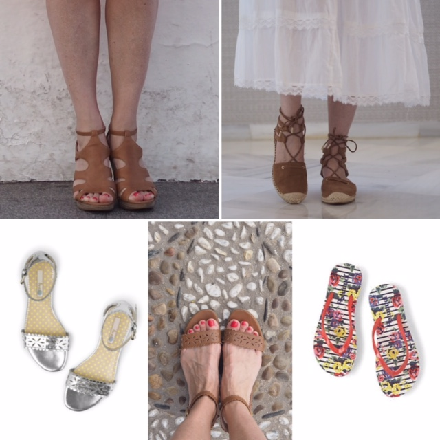 Tan sandals, silver sandals, tan espadrilles, shoes for Nerja