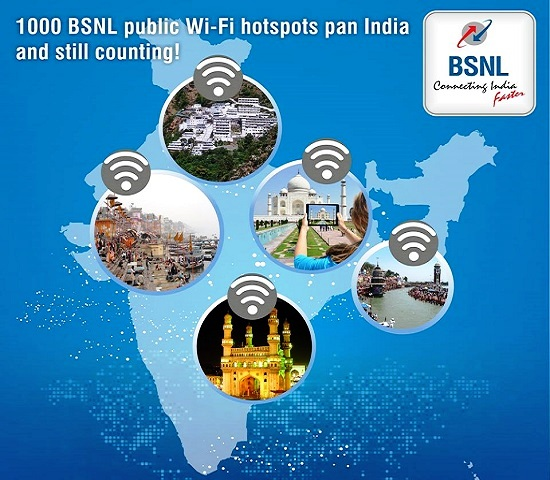 BSNL increases the validity of Prepaid WiFi plans up to 133% without any hike in charges from 6th April 2016 in all the circles