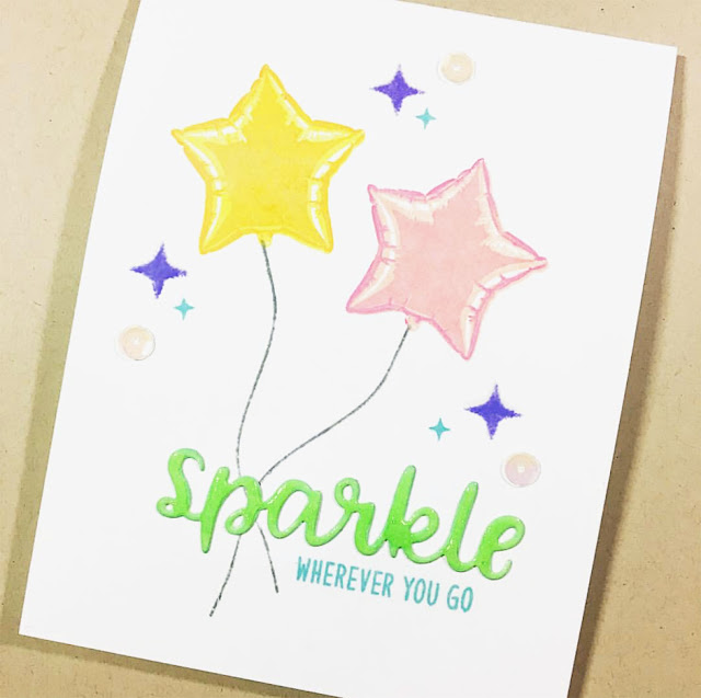 Sunny Studio Stamps: Bold Balloons Customer Card Share by Jess Crafts