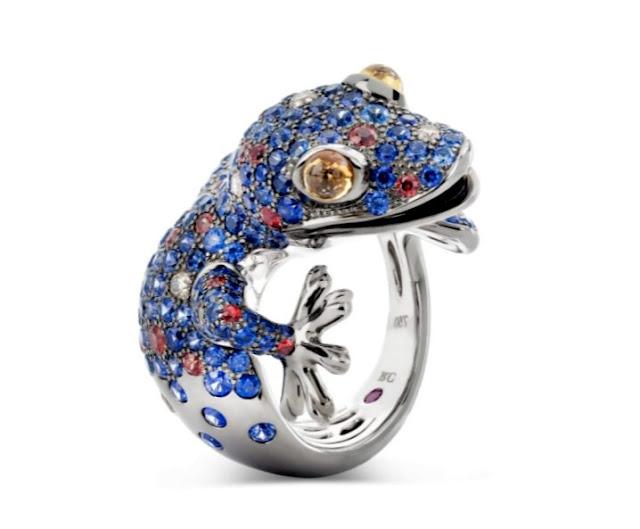Gemstone Lizard Ring by Jewelry Designer