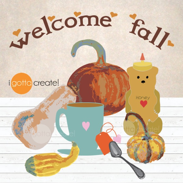 Welcome Fall printable from clip art by I Gotta Create!