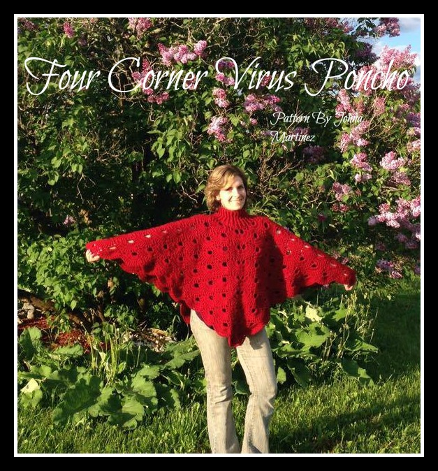 Crochet Virus Poncho : ... finished the four corner crochet virus poncho yay it has been one