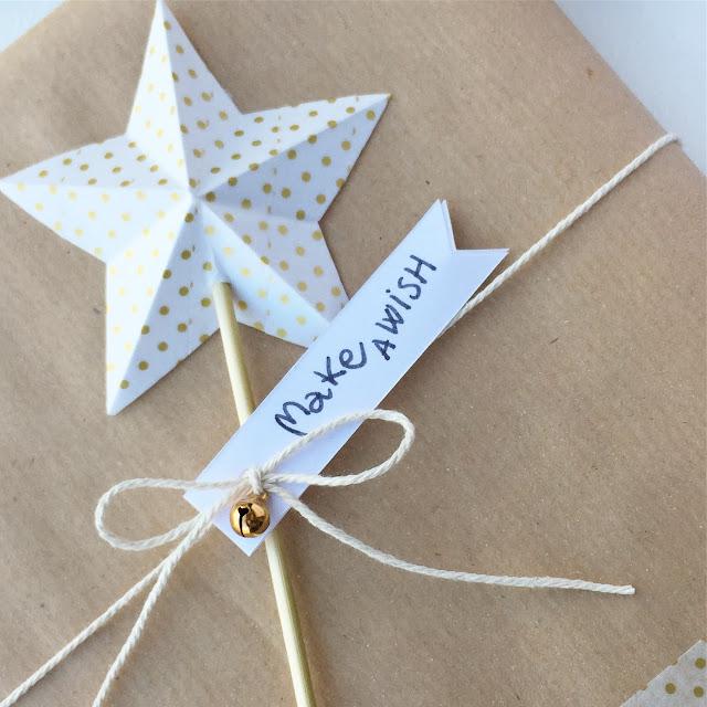 Pacchetti stella origami kraft