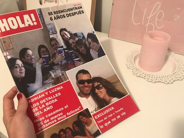 Revista Hola personalizada para boda