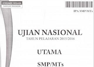 Download soal UN SMP 2016 IPA pdf