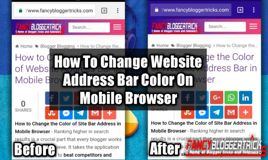 How to Change the Color of Website Address Bar in Mobile Browser