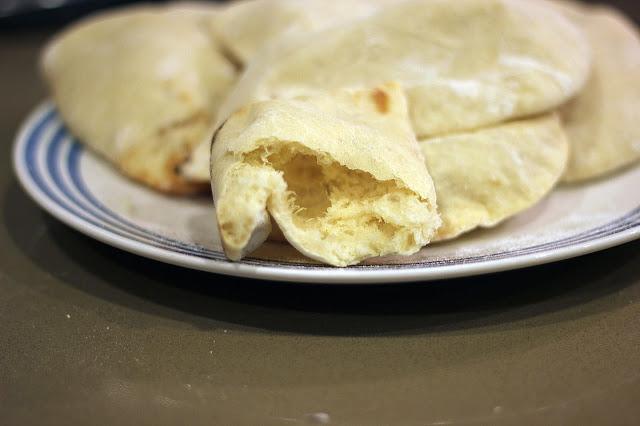 Recipe for Easy Homemade Pita Bread by freshfromthe.com.