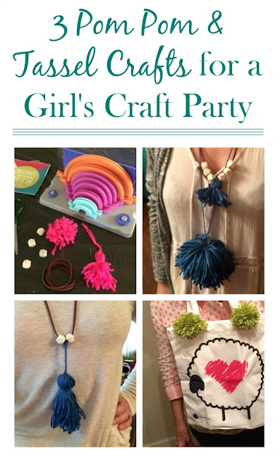 Here are three easy DIY pom pom projects you can whip up for a Girl's Night
