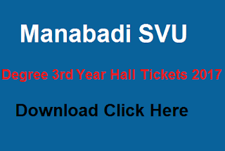 svu degree 3rd year hall tickets 2017