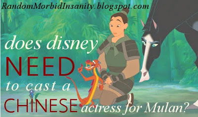 Does Disney NEED to cast a Chinese actress for Mulan? Alyssa says no.
