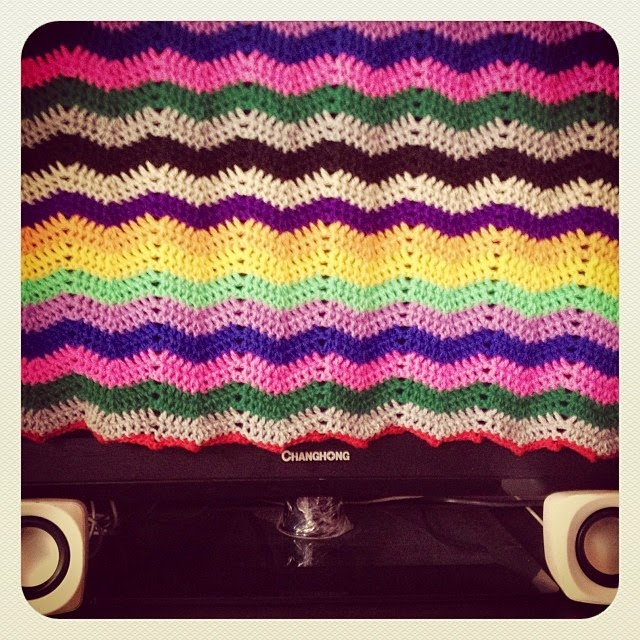 Crochet TV and DVD Cover