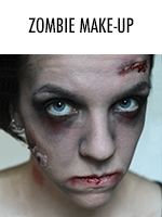 Happy Halloween! Here's a quick undead-inspired make-up look