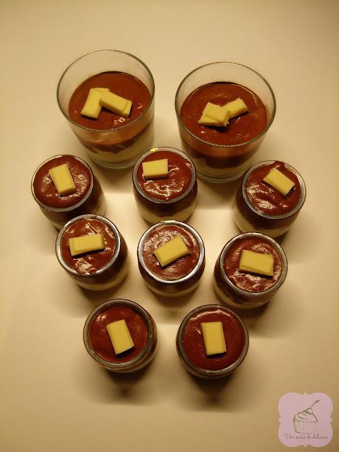 Cheesecake mousse au chocolat en verrines