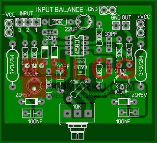 Cara Membuat Rangkaian Input Balance yang simple
