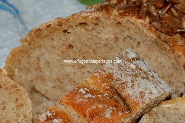 Detalle de la masa del pan