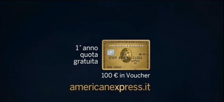 Canzone American Express pubblicità Nuova carta oro - Musica spot Novembre 2016