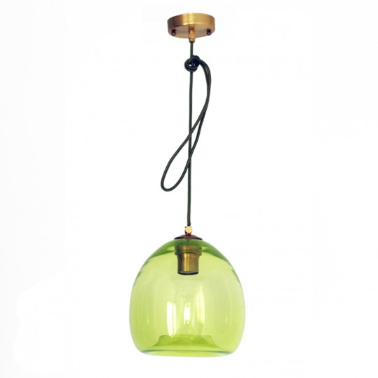 светильник colorglass с зеленым плафоном