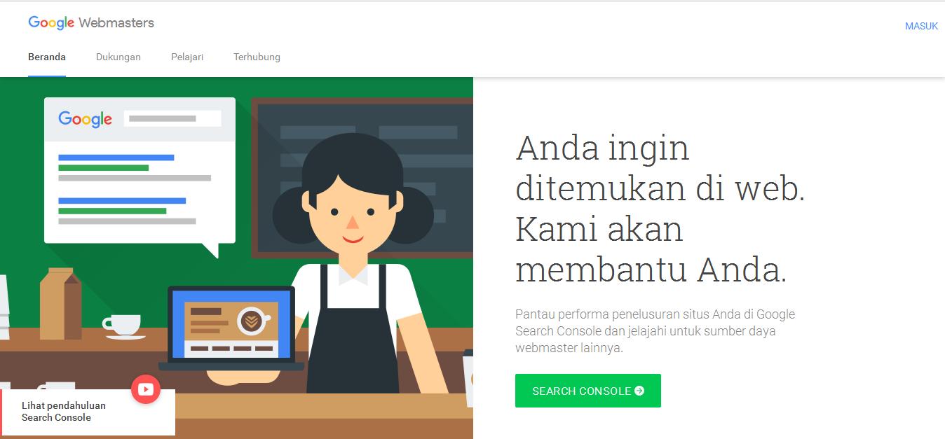 Cara mendaftar website ke googlebot