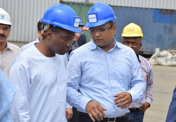 President of FEPSAN, Mr Etuh confers with MD of Indorama during visit to Indorama Fertilizer plant
