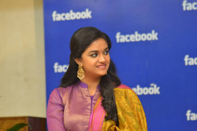 Actress Keerthy Suresh Photos At Facebook Office