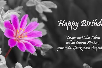 Ich W Sche Dir Alles Gute Zum Geburtstag Spr He