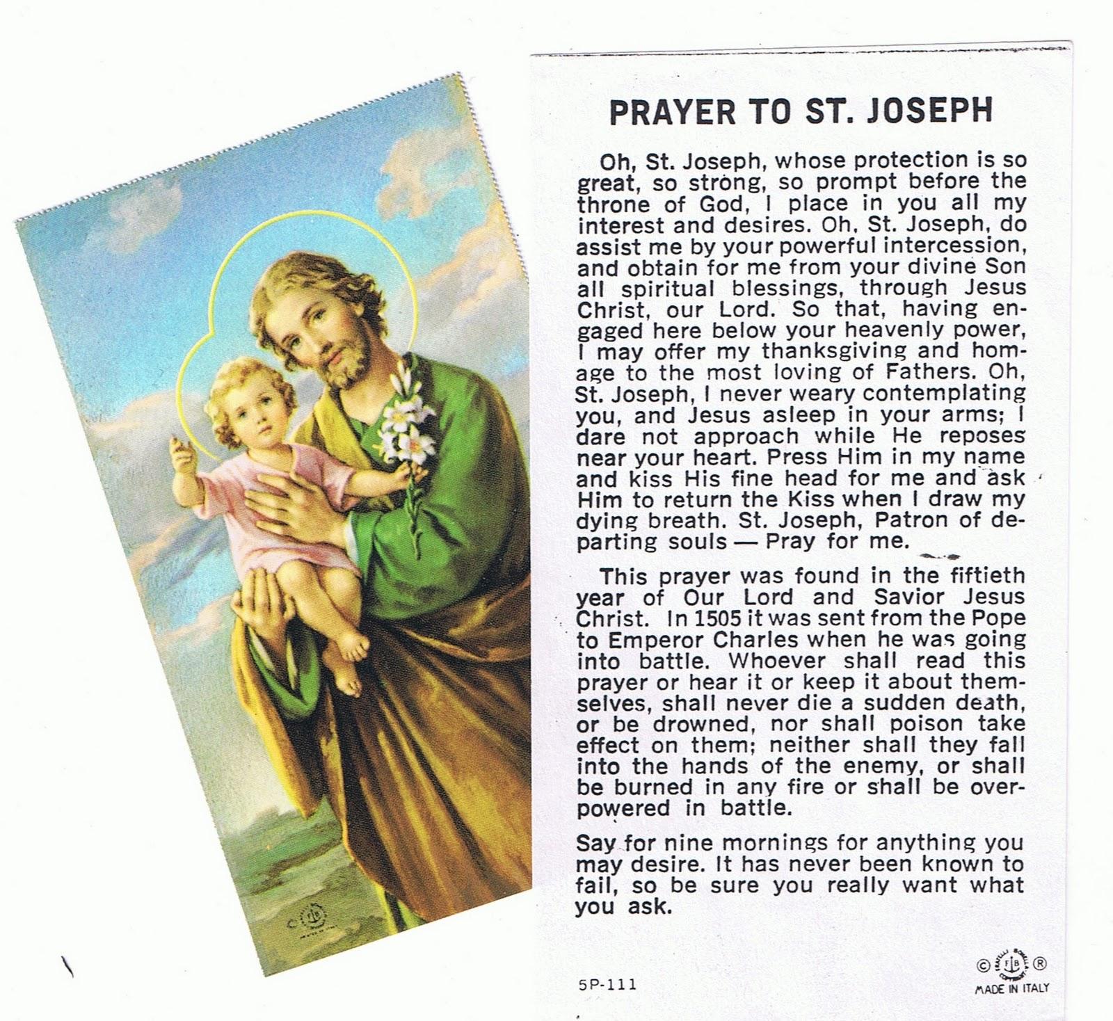 a novena to saint joseph bible saints