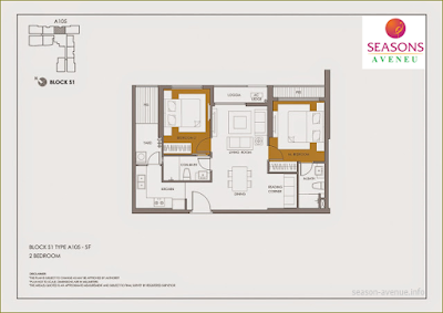Mặt bằng căn hộ A105
