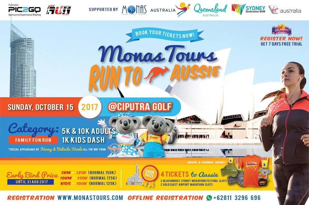 Monas Tours Run to Aussie • 2017