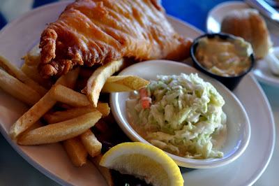 Fish and Chips at Top of the Bay on Oakland Beach in Warwick, RI - Photo by Taste As You Go