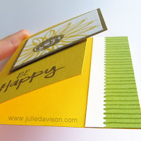 Stampin' Up! Paint Play Sunflower Card -- side view ~ www.juliedavison.com