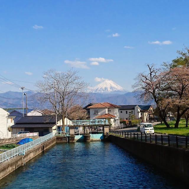 信玄堤 富士山