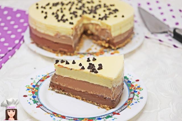 torta ai tre cioccolati