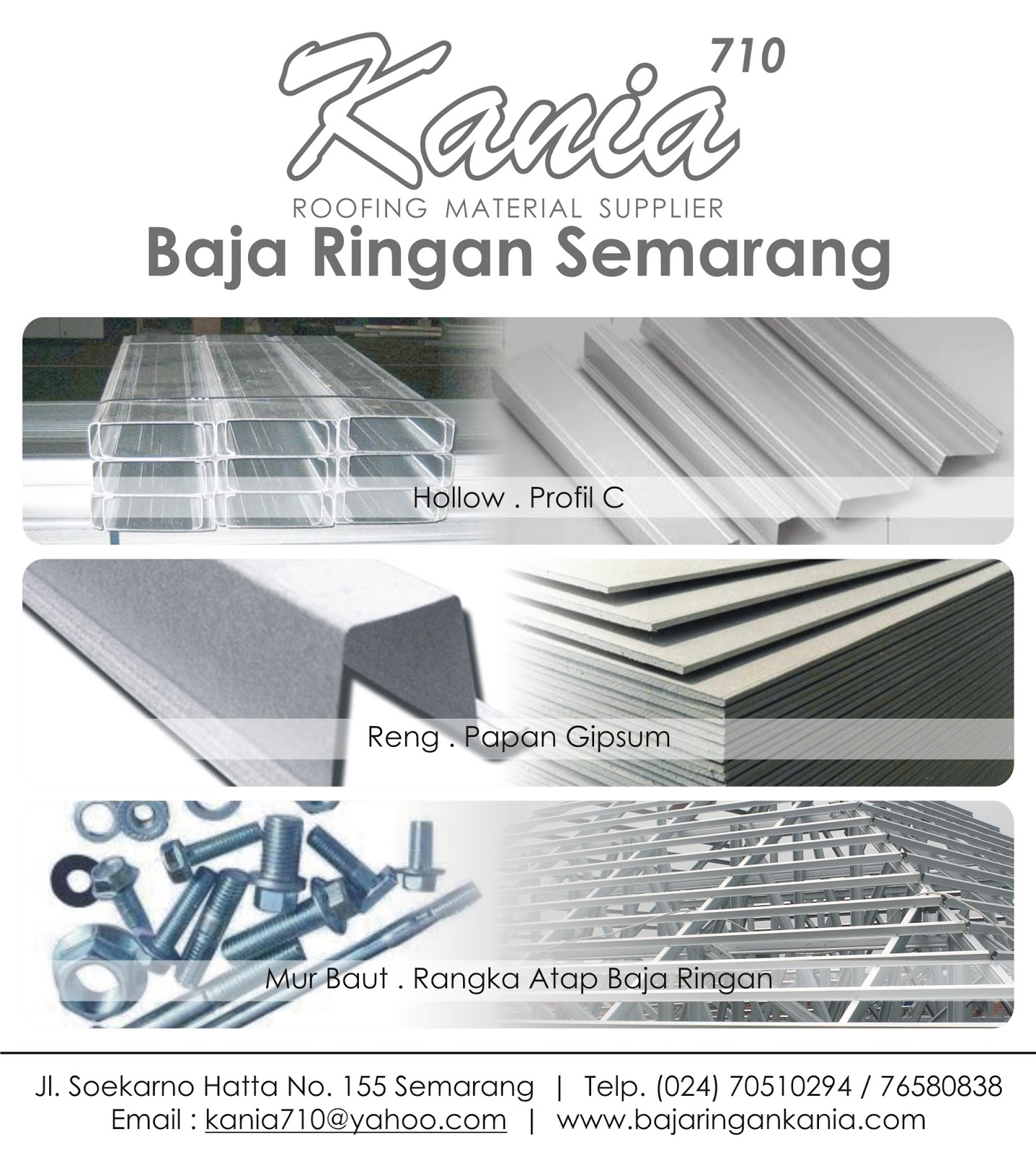 Supplier Baja Ringan Di Semarang Berkualitas Purwodadi Info Harga Atap Galvalum Kania