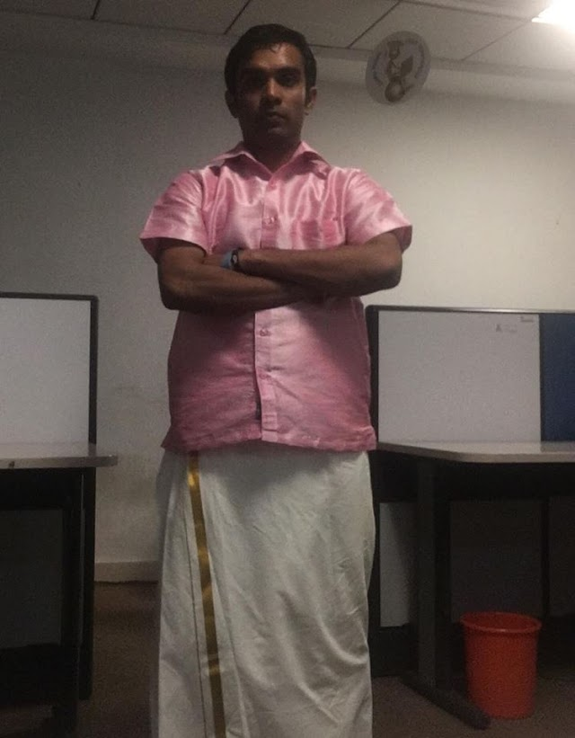 832. Traditional wear for festival days in office
