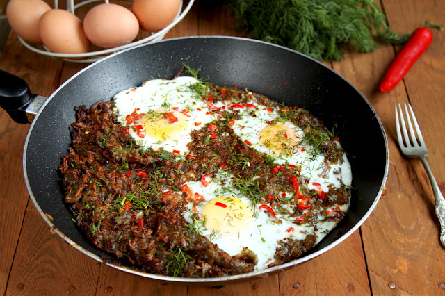 Placek ziemniaczany z jajkiem