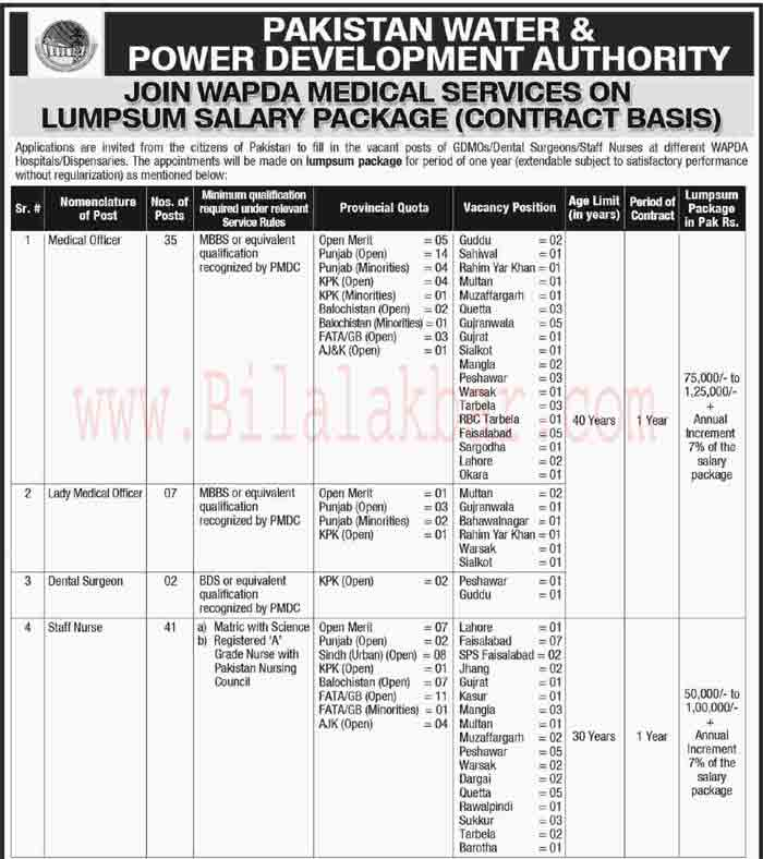 Jobs Opportunity in Pakistan Water and Power Development Authority WAPDA