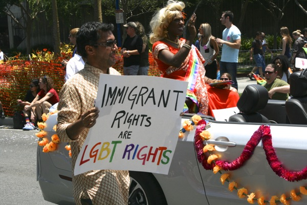 LGBT immigration rights LA Pride Parade 2013