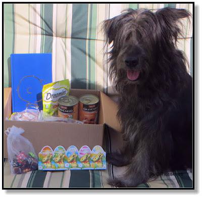Lotte zeigt stolz die Geschenke
