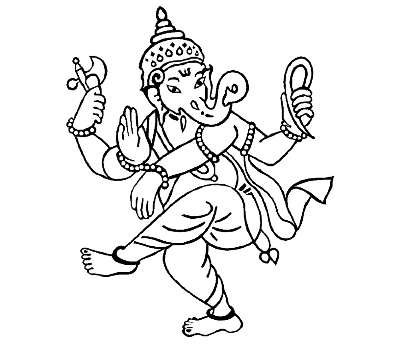 Colour Drawing Free Hd Wallpapers Lord Ganesha Coloring Page Free Wallpaper