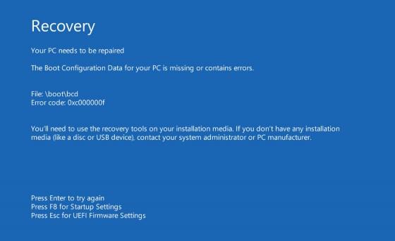 حل-مشكلة-خطأ-Your-PC-needs-to-be-repaire-في-الويندوز
