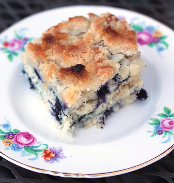 Summer Vegan Blueberry Buckle