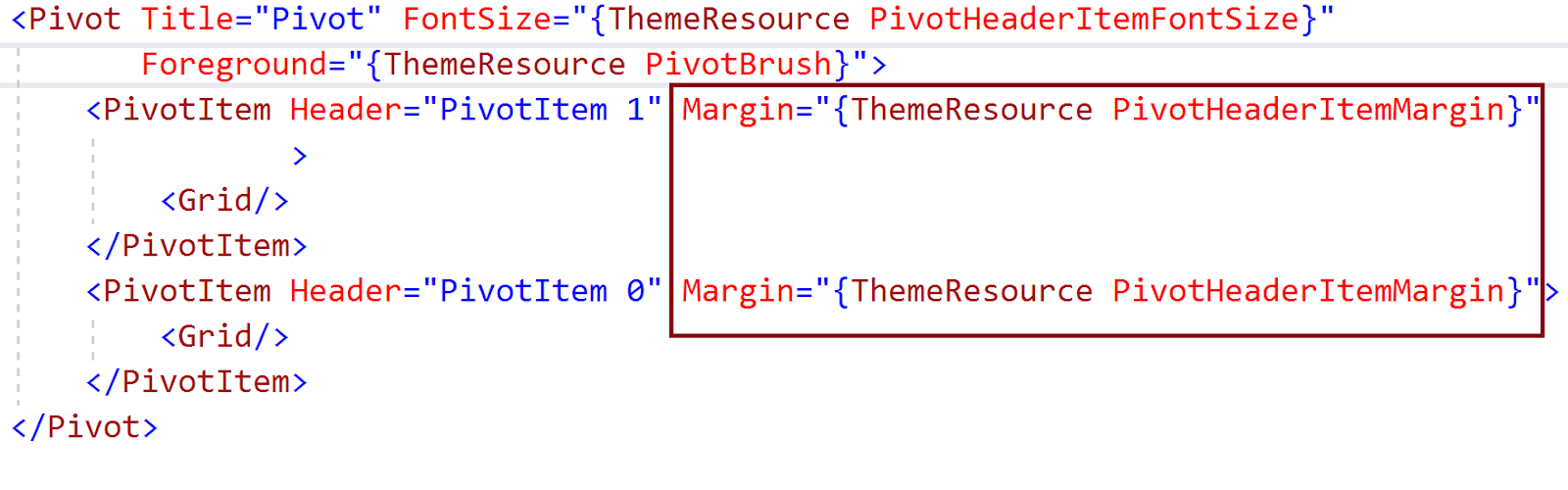 UWP: Need to reduce the space between Pivot and PivotItem Header  Is
